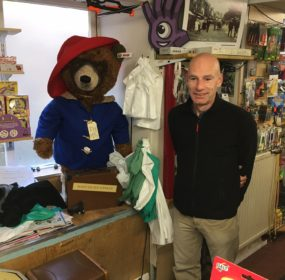 Paul Jeffrey with Paddington Bear