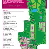 Kingham Cottages garden map